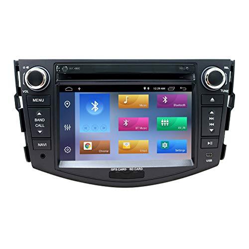 7 Zoll Android 10 Autoradio Doppel Din Radio für Toyota RAV4 2006-2012 mit Touchscreen GPS Navigation DVD CD Bluetooth AM PM WiFi SWC DSP DAB+, Unterstützung AHD-Rückfahrkamera,2+16GB