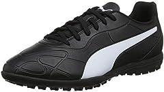 PUMA Monarch TT, Zapatillas de Fútbol Hombre, Negro Black White, 43 EU