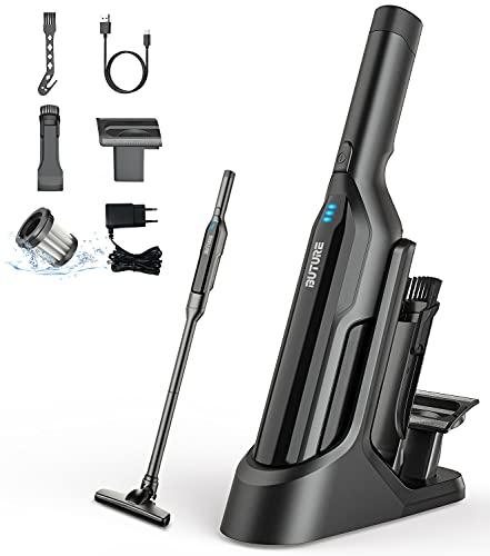 Aspirateur à Main Sans Fil,BuTure 17000Pa Aspirateur Sans Fil avec USB Rechargeable et LED,2 Vitesses,Aspirateur Voiture pour Voiture/Maison/Poils d'animaux