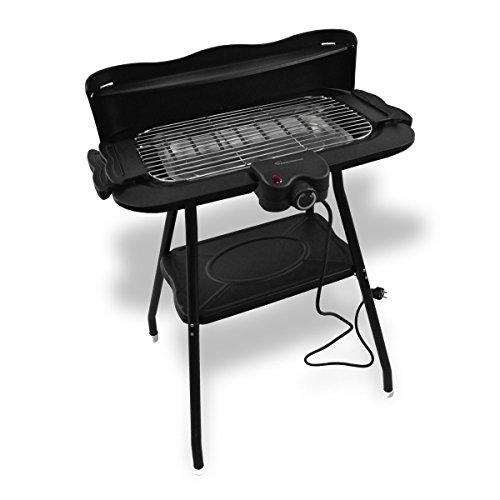 Kaiserberg - Barbecue elettrico da 2000W con supporto e paravento