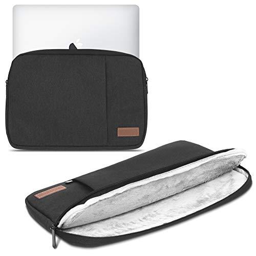 Laptop Schutz Tasche Schwarz Notebook Schutzhülle Ultrabook MacBook Tablet Cover Hülle, Notebook:TrekStor SurfTab Duo W3 W2 W1, Farbe:Schwarz