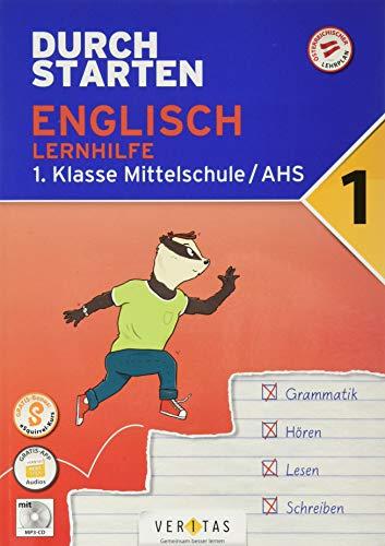 Durchstarten - Englisch Mittelschule/AHS - 1. Klasse: Lernhilfe - Übungsbuch mit Lösungen