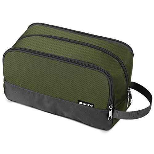 Toiletry Bag Small Nylon Dopp Kit Lightweight Shaving Bag for Men and Women (Army Green)