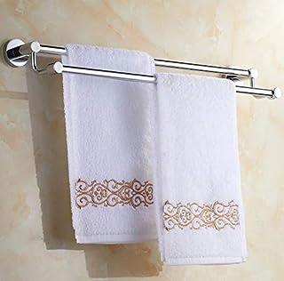 St@llion - Barra doble para colgar toallas de baño o ducha, acero inoxidable