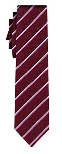 BOSS Seidenkrawatte fine stripe burg