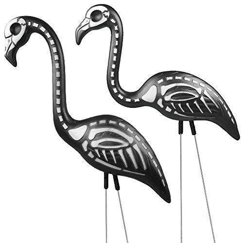 Skeleton Pink Flamingo Best Halloween Yard Decorations