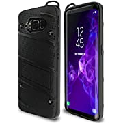 Samsung Galaxy S8 Case Military Grade 15ft. Drop Tested Protective Case with Kickstand,Shockproof,Dual Layer Heavy Duty, Compatible with Samsung Galaxy S8 - Black