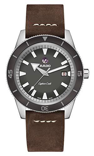 Rado Men's Captain Cook Leather Swiss Automatic Watch