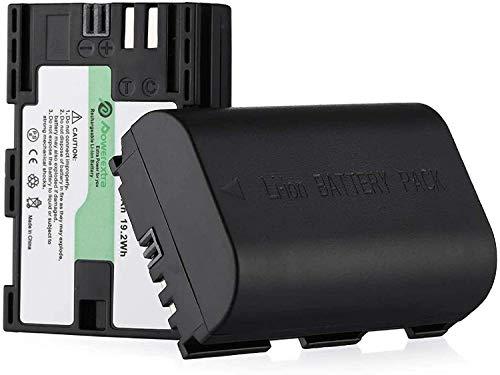 Powerextra 2 Remplacement Batteries Canon LP-E6 LP-E6N 2600mAh pour Canon EOS 80D 6D 7D 70D 60D 5D Mark III 5D Mark II BG-E14 BG-E11 BG-E9 BG-E7 LC-E6 BG-E6