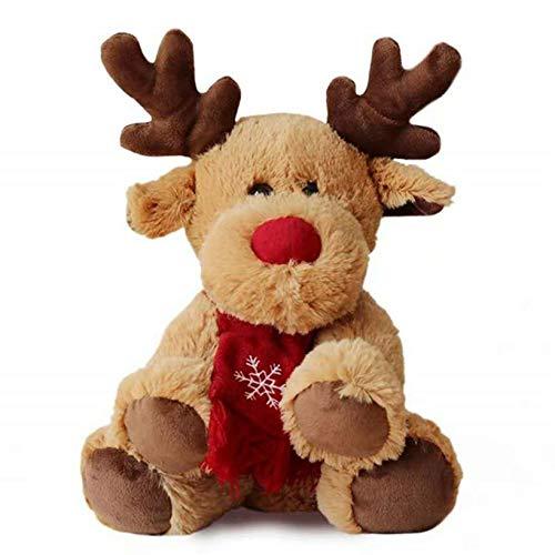 クリスマス トナカイ ぬいぐるみ エルク人形 おもちゃ かわいい 鹿 ふわふわ pp 柔らかい 子供 赤ちゃん 彼女彼氏へ お誕生日 プレゼント 縫い包み クッション 癒し系 店飾り メリークリスマス 茶色 30cm