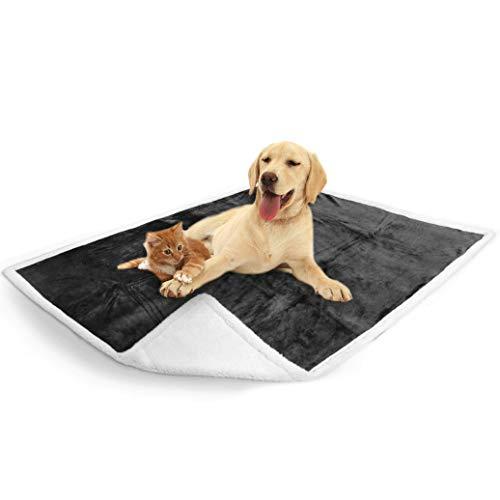 PetAmi Waterproof Dog Blanket for Couch, Sofa | Grey Waterproof Sherpa Pet Blanket for Large Dogs, Puppies | Super Soft Washable Microfiber Fleece | Reversible Design | 50 x 40 (Charcoal)