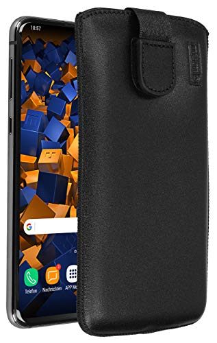 mumbi Echt Ledertasche kompatibel mit Samsung Galaxy S10e Hülle Leder Tasche Hülle Wallet, schwarz