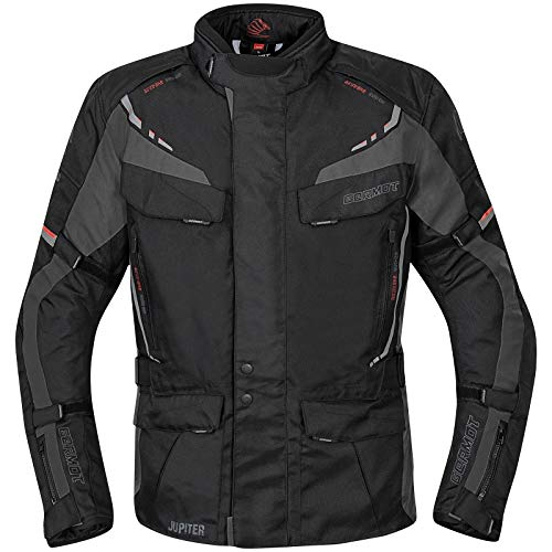 Germot Jupiter Motorrad Textiljacke Schwarz/Grau XL