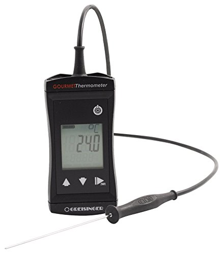 GHM Greisinger 611636 Gourmet-Thermometer, Backthermometer, Bratenthermometer, Grillthermometer, Kunststoff, Schwarz, 12 x 5 x 4 cm