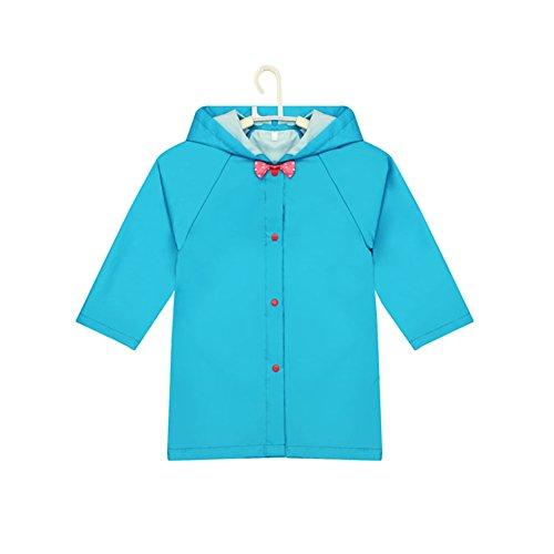 Nœud pour petite pluie Wear mignon bébé Veste de pluie imperméable pour bébé Bleu S