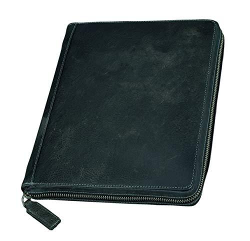 Pride and Soul 41102 - Tablet PC Case Flush gemaakt van rundleer, zwart/grijs