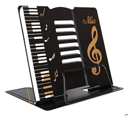 [アチスメル] 卓上譜面台 黒 折りたたみ 軽量 楽譜スタンド 楽譜立て 書見台 レシピスタンド 譜面立て 譜面台