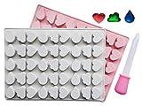Silikonform mit Herz, Wolke und Wassertropfen, BPA-frei, LFGB/FDA-genehmigt, perfekt für...