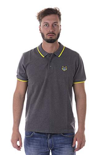 Kenzo Heren Witte Tijger Hoofd Polo Shirt Met Zwart Getipt
