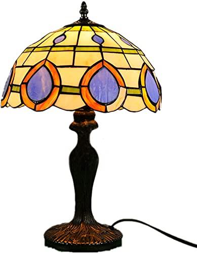 BQFLZY Vintage banquero lámparas de Mesa de Estilo Barroco lámpara de Mesa Tiffany lámpara de Mesa para Estudio Sala de Estar Barra de Mesa de Noche lámpara de...