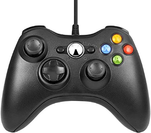 Wired Xbox 360 Controller, Northen Xbox 360 Game Controller Compatible with Microsoft Xbox 360 & Slim/Windows/PC (Black)