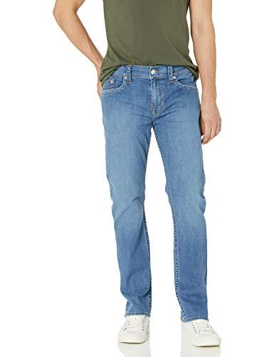 True Religion Ricky Straight Leg Jean Jeans, Top Azul, 36W/30L para Hombre
