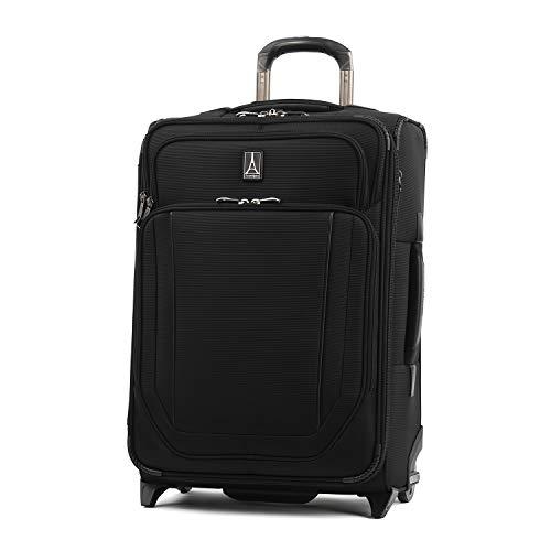 Travelpro Crew Versapack Softside Expandable Upright Luggage, Jet Black, Carry-On 21-Inch