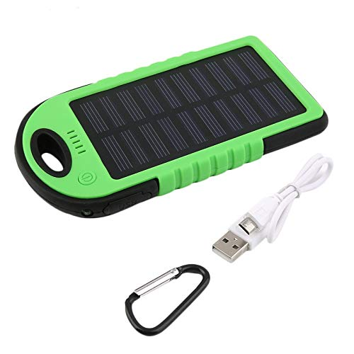BianchiPatricia Ultra-Thin Dual-USB Waterproof Solar Power Bank Battery Charger for Cellphone