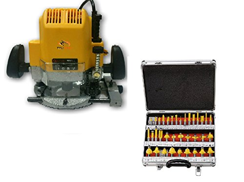 Tools Centre Industrial Router Machine for Wood Working with Free 35pcs 8mm Shank Router Bit Set.