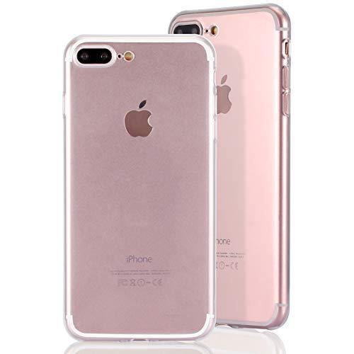 inv. Carcasa ultrafina de TPU [compatible con Apple iPhone 7/8 Plus, transparente] Nueva – fina y elástica – funda resistente – fina mate – ligera – protección perfecta – transparente