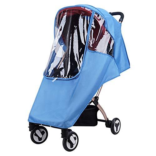 Cubierta de lluvia universal EVA impermeable paraguas Cochecito de cochecito de viento polvo cubierta para la mayoría de la silla de paseo frontal apertura tiro sobre la lluvia protector