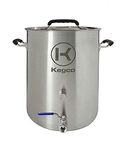 Kegco 6 gallon Brew Kettle with Plug & 2Piece Ball Valve