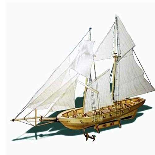 Chem Modelo de velero Bricolaje Ssembling Kits de construcción de Nave Modelo de Madera del Barco de Vela Juguetes Vela Kit Modelo de Madera ensambladas