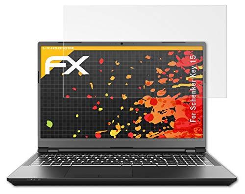 atFolix Panzerfolie kompatibel mit Schenker Key 15 Schutzfolie, entspiegelnde & stoßdämpfende FX Folie (2X)