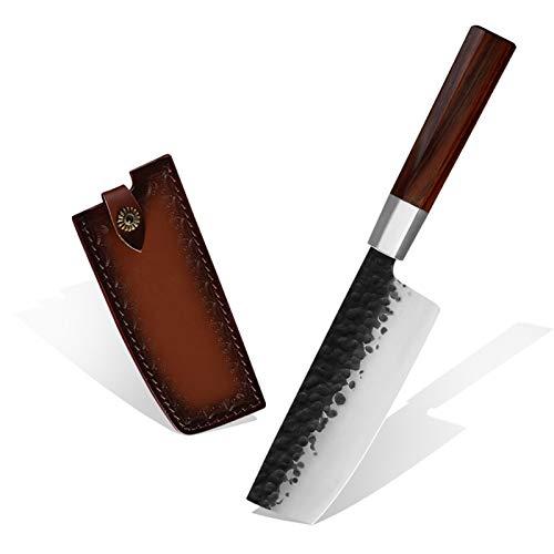 Cuchillos cocina Cuchillo de chef cuchillo de cuchillo de nakiri de alta calidad de 7 pulgadas Cuchillo de utilidad de acero inoxidable de acero inoxidable con mango de palisandro