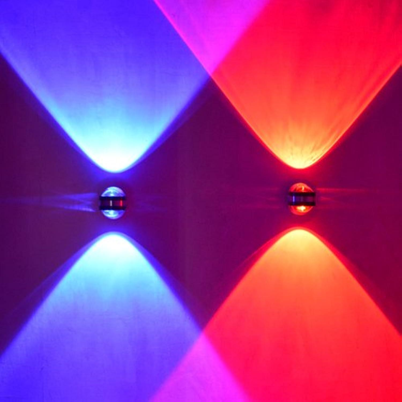 Yyhaoge aus Aluminium LED doppelseitig Crystal Wandleuchte, trendige Persnlichkeit, Saal des Monitor anstelle Bett, Stair, Schlafzimmer Dekoration, Spiegel-Hintergrund, Scheinwerfer vorne 2W è bianco