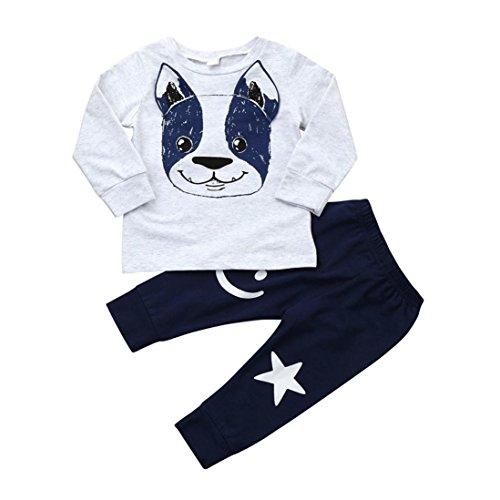 POLP niño◕‿◕2018 Conjunto Otoño Camiseta Manga Larga Hombres,Recién Nacido Bebé Niño Niña Tops Camisas y Pantalones Conjuntos de Ropa Trajes,Camiseta de Hombre Camisetas Deporte Ropa Blusa 2PCS