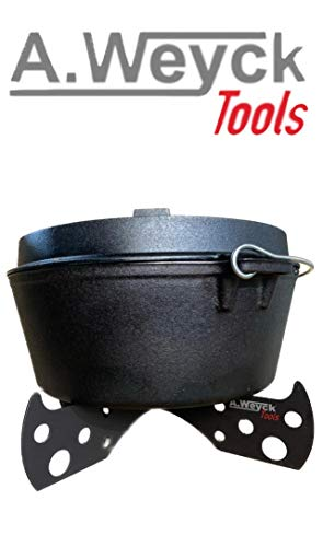 A. Weyck Tools Dutch Oven Gestell Untersetzer Halter Outdoor Höhe: ca 8cm ø: 42cm 3mm Stahl