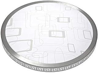 comprar comparacion Plafón LED redondo moderno de 30W, plafón LED ultra delgado a cuadros 40cm 2700LM 6500K blanco natural, plafón LED dormito...