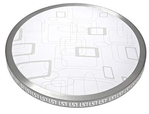 Plafón LED redondo moderno de 30W, plafón LED ultra delgado a cuadros 40cm 2700LM 6500K blanco natural, plafón LED dormitorio cocina sala de estar