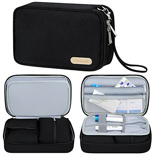 Insulin Diabetiker Tasche, Simboom Insulin Tasche für Blutzuckermessgeräte und Diabetiker Zubehör, Schwarz