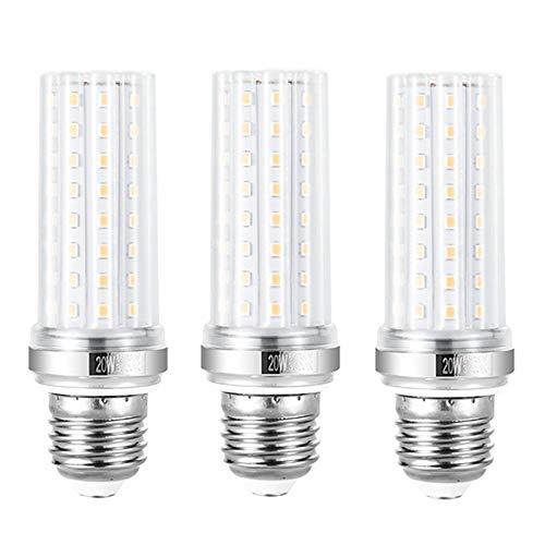 YIUN E27 LED-Kerzenlampen, 20 W LED-Kandelaber-Glühbirnen, 150 Watt-Äquivalent, 1800 lm, warmweiße 3000 K, nicht dimmbare LED-Lampe, 3er-Pack