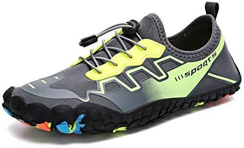 eamqrkt Hombre Zapatos para Agua Sports Aqua Descalzo Secado Rápido Transpirable Antideslizante para Exterior Barco Playa - Verde, 11.5
