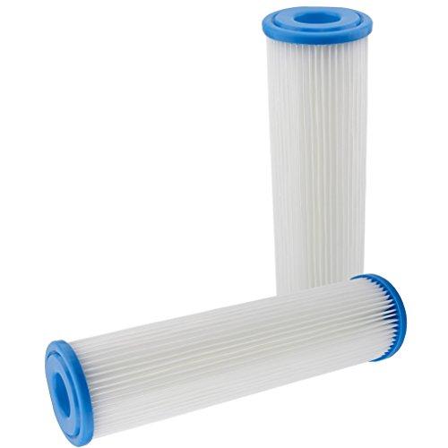 """Filtereinsatz 10\""""(251mm) Filtergehäuse Filterkartusche für Pumpenfilter Hauswasserwerke Vorfilter Wasserfilter Sandfilter Filter Membran Polypropylen Faltenfilter (2)"""