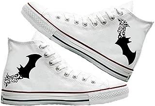 Art T-Shirt -The Bats Baskılı Unisex Canvas Ayakkabı
