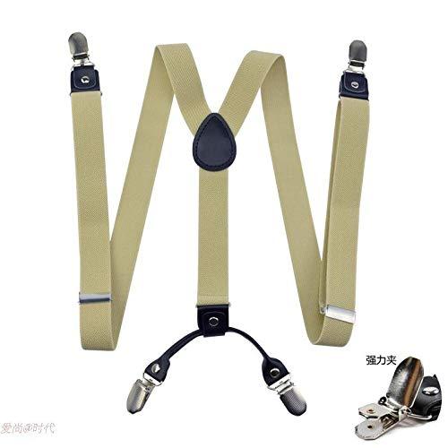 Hondenzak, bretels, bretels, broekdragersclip van elastische beugelvrouwen, antislip clipbroekclip van het pak voor mannen casual accessoires. 105cm 2,5 cm in breedte
