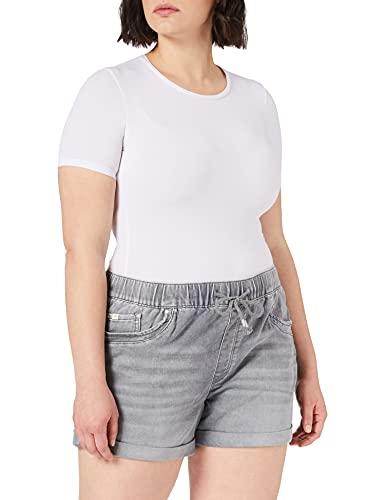 edc by ESPRIT Damen 041CC1C316 Jeans-Shorts, 922/GREY MEDIUM WASH, 31
