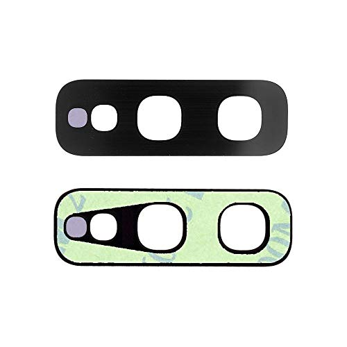 jbTec Kamera Glas Ersatz mit Kleber passend für Samsung Galaxy S10e - Camera Linse Glass Lens Rückseite Abdeckung Hinten Hintere Scheibe Hinteres, Farbe:Schwarz