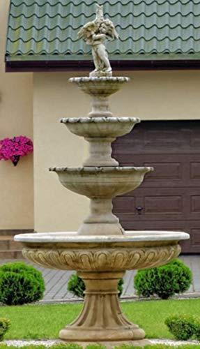 Casa Padrino Fuente/Fuente de jardín Barroco Ø 150 x H. 300 cm - Magnífica Fuente en Estilo...
