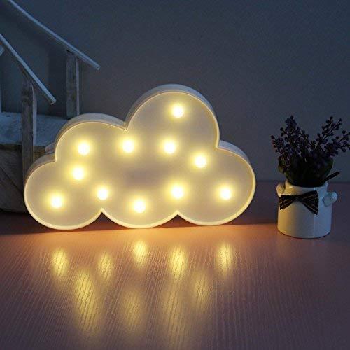 XIYUNTE Luci notturne per bambini - LED nuvole Lampada da tavolo 3D carino applique da parete Luci notturne per bambini, (Batteria Operated) Warm White Mood Lights